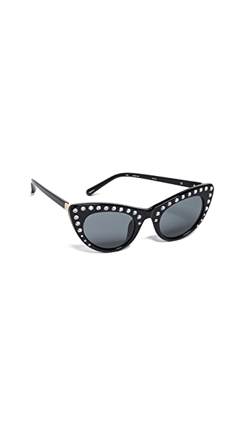 No. 21 Rhinestone Cat Eye Sunglasses