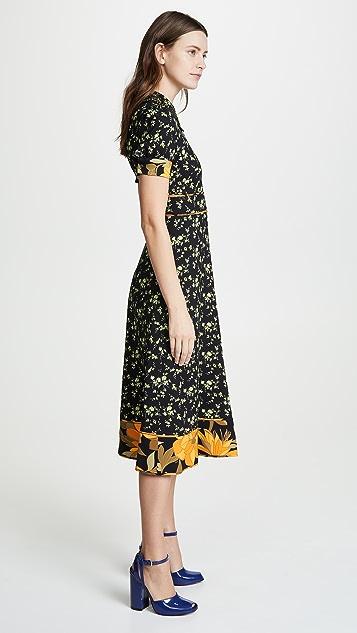 No. 21 Платье-рубашка с цветочным принтом