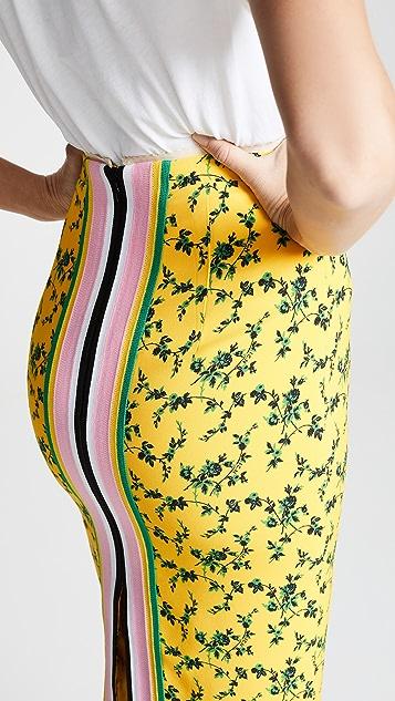 No. 21 Миди-юбка с цветочным рисунком