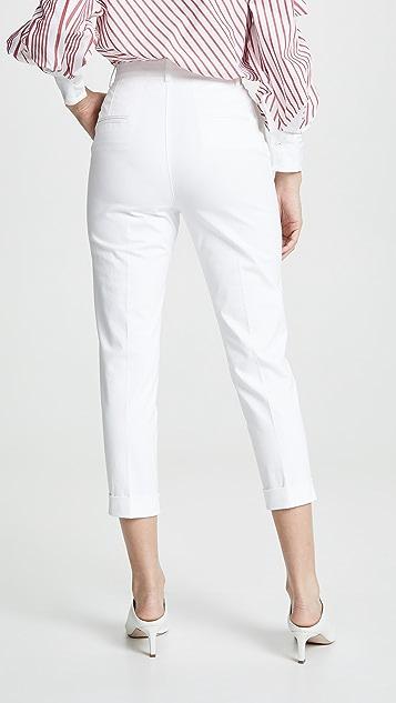 No. 21 Узкие плиссированные брюки