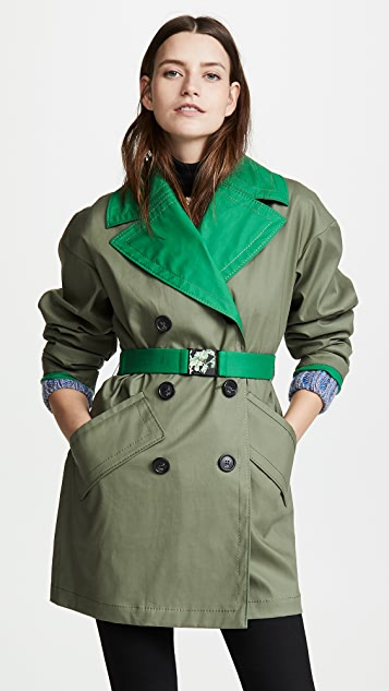 No. 21 Two Tone Trench Coat