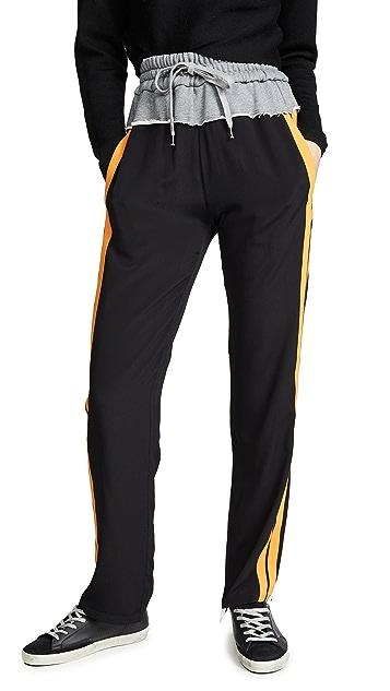 No. 21 Комбинированные брюки с полосками по бокам