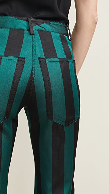 No. 21 Stripe Cropped Flare Pants