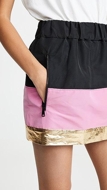No. 21 Двухцветная мини-юбка