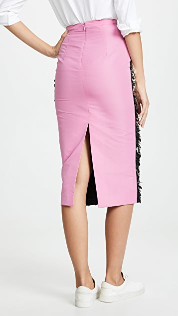 No. 21 Sequin Midi Skirt
