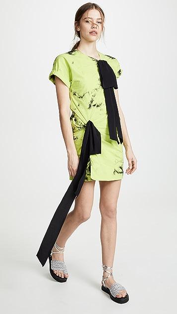 No. 21 Acid Dye T-Shirt Dress