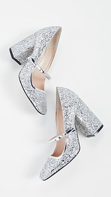 No. 21 Glitter Mary Jane Pumps