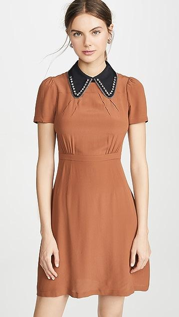 No. 21 Мини-платье с контрастным воротником