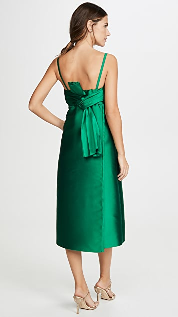 No. 21 Midi Dress With Bow Detail