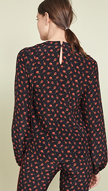 No. 21 Long Sleeve Printed Blouse