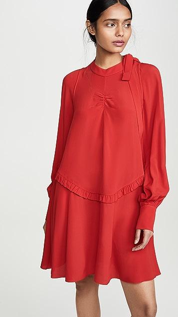 No. 21 Мини-платье с длинными рукавами