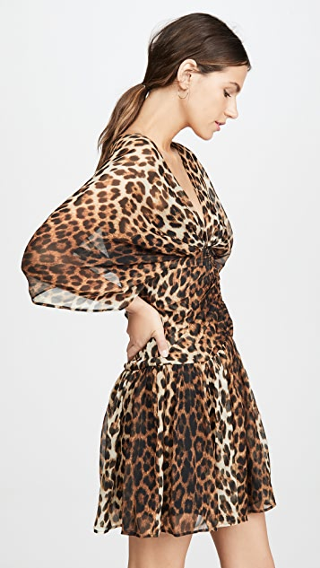 No. 21 Leopard V Neck Dress