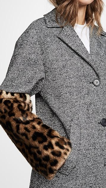 No. 21 豹纹袖外套