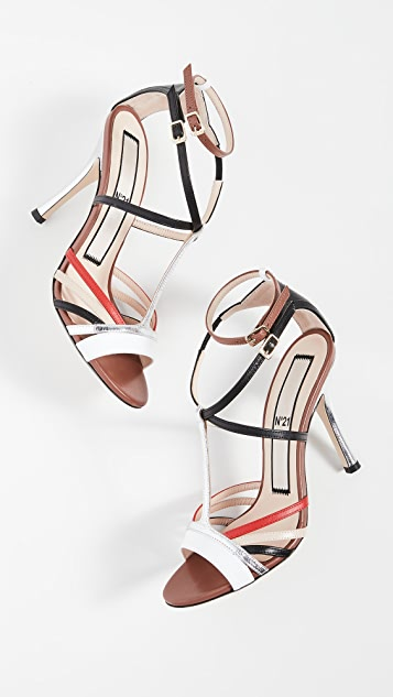 No. 21 Ankle Strap Sandals