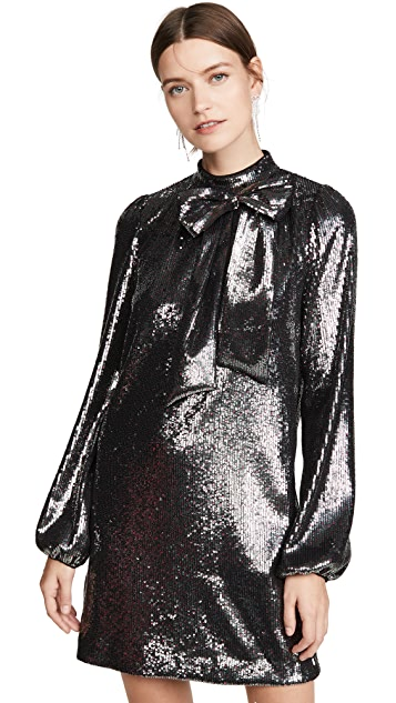 No. 21 Long Sleeve Metallic Dress