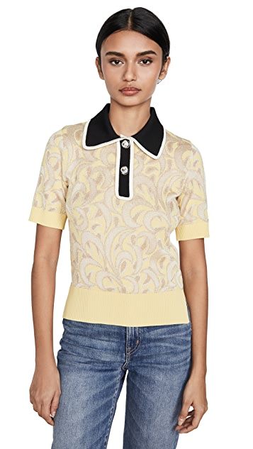 No. 21 Contrast Collared Polo Tee