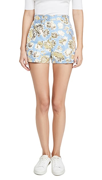 No. 21 Metallic Floral Shorts