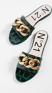 No. 21 平底链条凉拖鞋