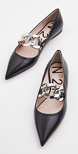 No. 21 - Chain Detail Ballet Flat