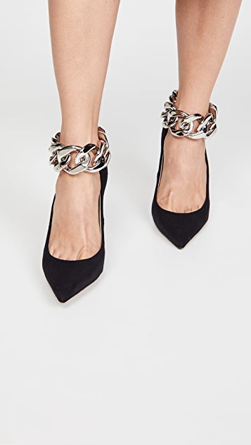No. 21 Ankle Chain Pumps
