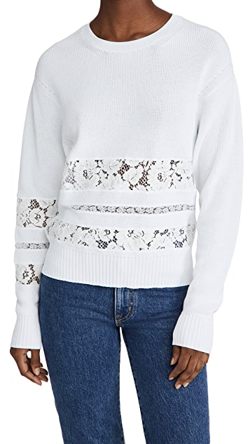 No. 21 Lace Inset Sweater