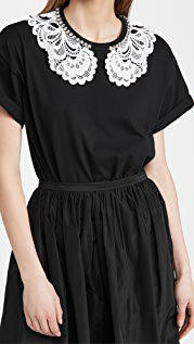 No. 21 Lace and Jewel Collar Tee