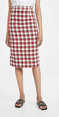 No. 21 - 棉质红色格子半身裙