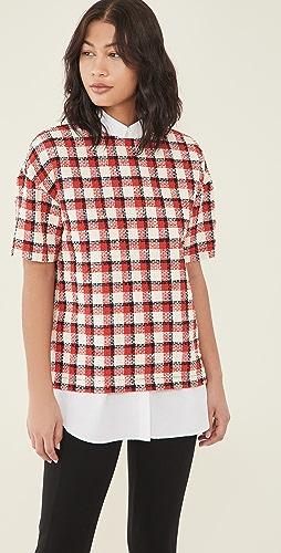 No. 21 - 棉质红色格子 T 恤