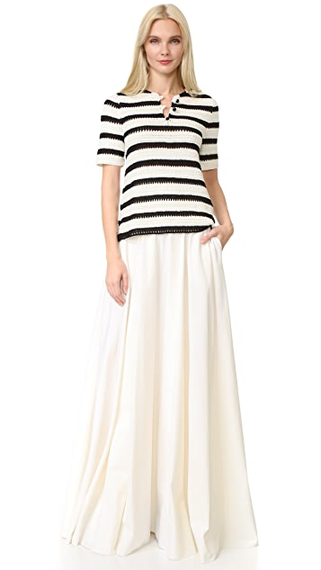 Novis Pleated Wrap Skirt