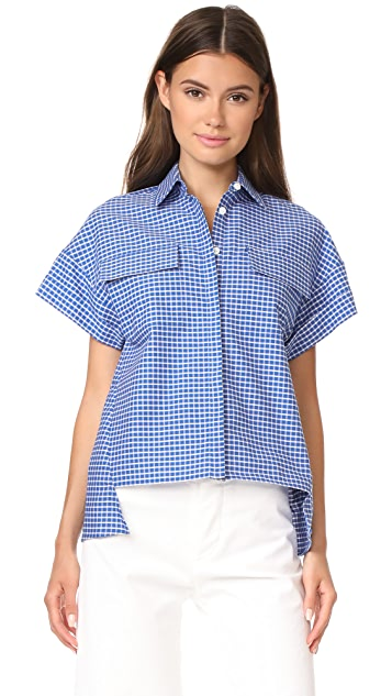 Novis The Sandisfield Drop Shoulder Short Sleeve Blouse