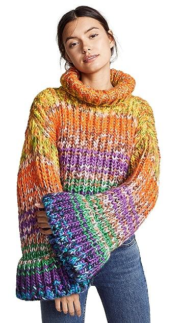 Novis Freddy Cropped Hand Knit Kimono Sweater