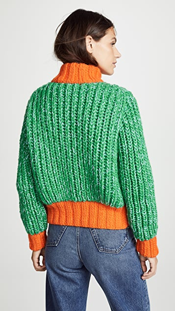 Novis Jagger Cropped Hand Knit Cardigan