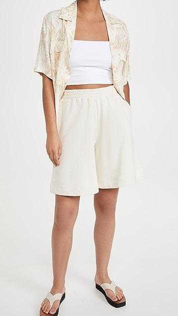 Ninety Percent 棉质毛圈布滑板运动短裤