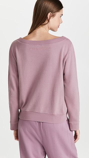 Ninety Percent Loopback V Rib Neck Sweatshirt