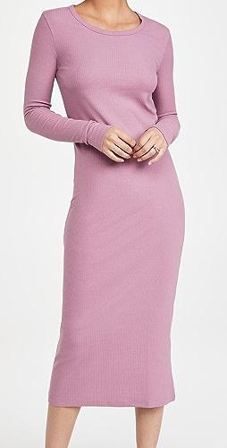 Ninety Percent - 弹性 3x2 罗纹中长连衣裙
