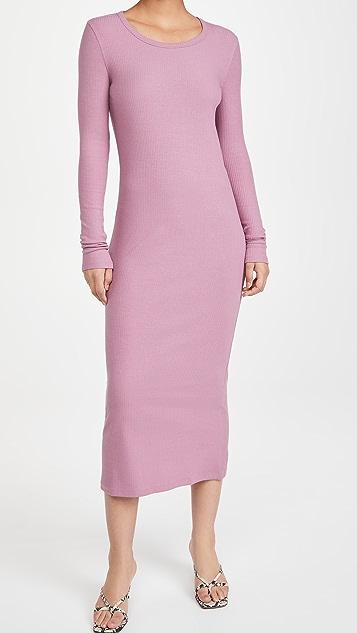 Ninety Percent Stretch 3x2 Rib Midi Dress