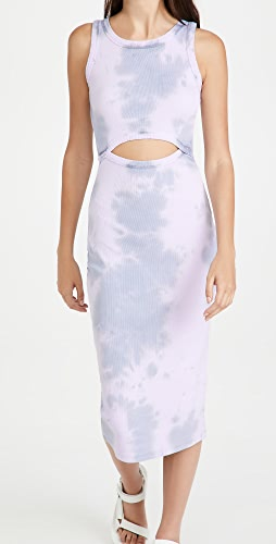 Ninety Percent - Cotton Rib Cutout Dress