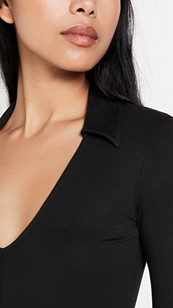 Ninety Percent Stretch Tencel SJ Collar Top