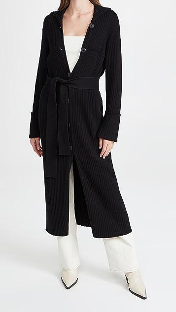 Ninety Percent 系腰带开襟外套