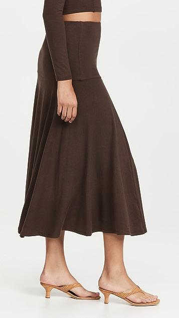 Ninety Percent Stretch Tencel SJ Yoke Flare Skirt
