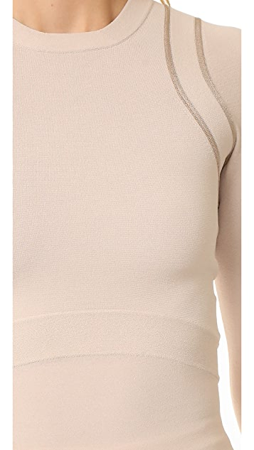 Narciso Rodriguez Long Sleeve Knit Top