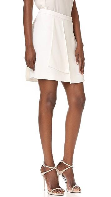 Narciso Rodriguez Crepe Miniskirt