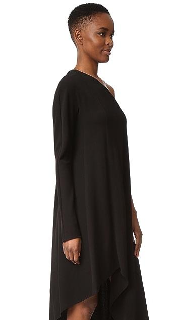 Narciso Rodriguez One Shoulder Dress