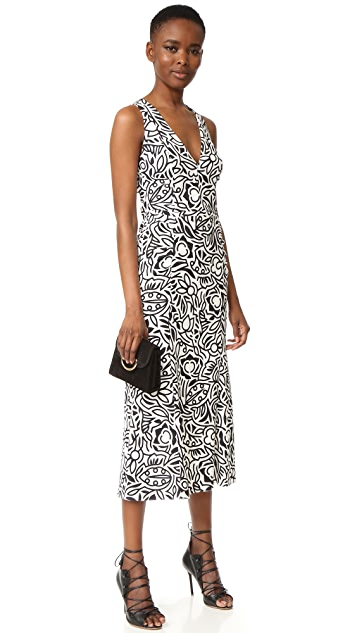 Narciso Rodriguez Sleeveless V Neck Dress