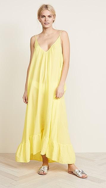 9seed Paloma Ruffle Maxi Dress - Sunshine