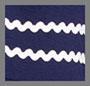 海军蓝/白色饰边