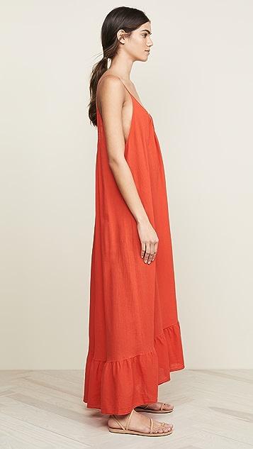 9seed Макси-платье с оборками Paloma