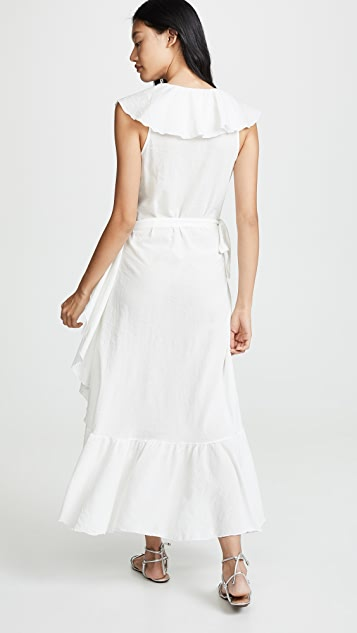 9seed Платье Granada с запахом и оборками