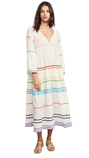 9seed Majorca Long Sleeve Maxi Dress