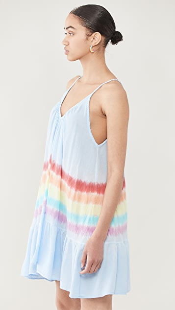 9seed St Tropez 荧光色扎染连衣裙
